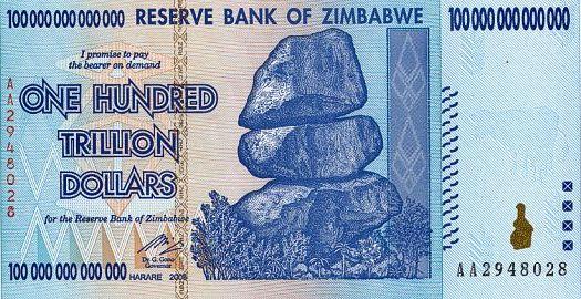 Zimbabwe Dollars 2008