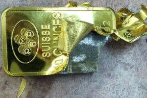 counterfeit PAMP Suisse gold bar